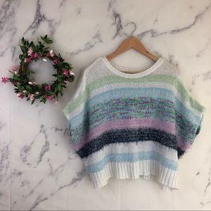 Splendid Girls Mixed Yarn Striped Sweater